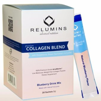 Relumins Premium Collagen Blend - With Glutathione, Green TeaExtract and Coq10 - Blueberry Flavor Price Philippines