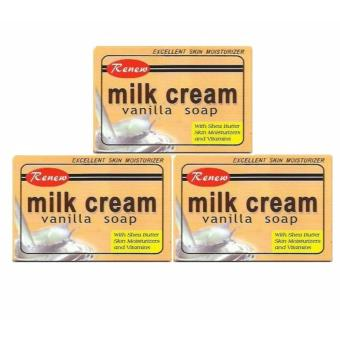 Renew Milk Cream Vanilla Soap 135g Set of 3
