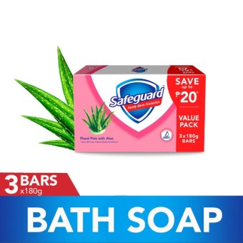 Safeguard(TM) Floral Pink with Aloe Bar Soap 180g Tripid