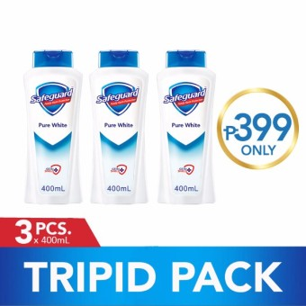 Safeguard(TM) Pure White Body Wash Tripid Pack 400ml