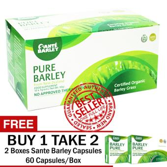 SANTE PURE BARLEY POWDER 30 SACHETS WITH FREE 2 BOXES SANTE CAPSULES 60 CAPSULES/BOX