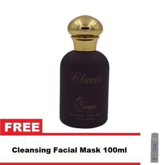 Sanya Classic Eau De Parfum for Women 50ml with Free Cleansing Facial Foam 100ml