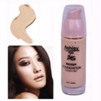 Shade 3 Glass Bottle Pump Ashley Shine Liquid Foundation Whitening Coverage 30ml Clear Skin