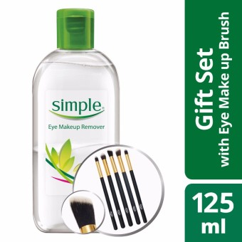 Simple Eye Makeup Remover 125ml with Free Brush Kit