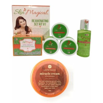 Skin Magical Rejuvenating Set 1 + Lily'S Touch Miracle Cream 50MlWith Free 1 Sachet Vita Herbs Green Coffee