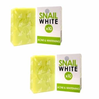 Snail White 10x Acne and Whitening Soap, 70g (Set of 2)