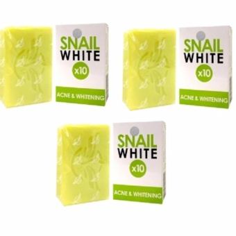 Snail White 10x Acne and Whitening Soap, 70g (Set of 3)