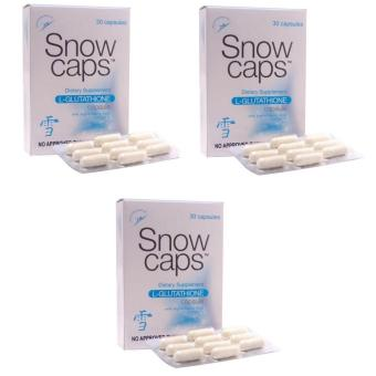 Snow Caps L-Glutathione 500mg Capsules 30's Set of 3
