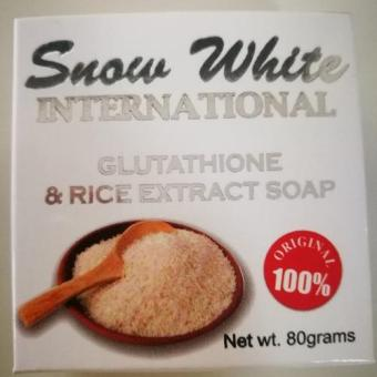 Snow White International Glutathione and Rice Extract Soap 80g Price Philippines