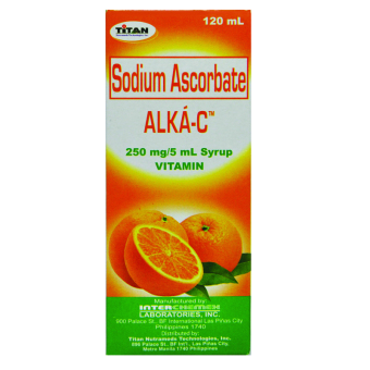 Sodium Ascorbate Alka-C Syrup 250mg 120ml Bottle Price Philippines