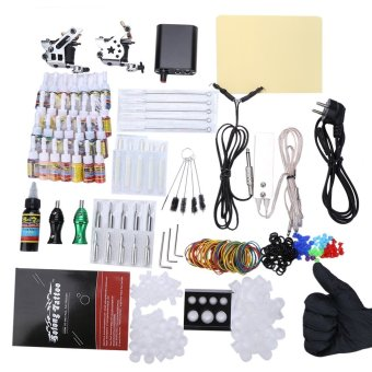 Solong Complete Tattoo Kit 10 Wrap Coils Guns Machine Power Supply - EU PLUG (Silver) - intl Price Philippines