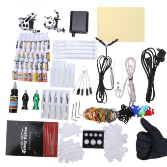 Solong Complete Tattoo Kit 10 Wrap Coils Guns Machine Power Supply - UK PLUG (Silver) - intl Price Philippines