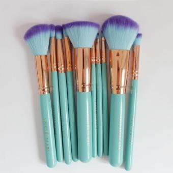 Spectrum Brushes Mermaid Dreams 10 Piece Vegan Brush Set Glam ClamCase (Multicolor) - 5