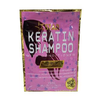 Star Keratin Shampoo with Conditioner 12 sachets