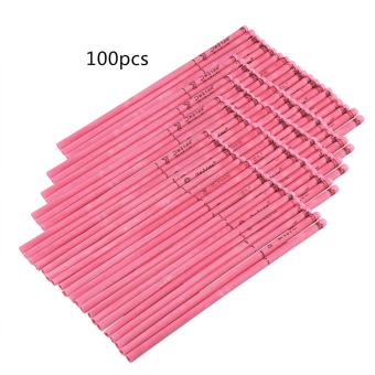 Straight Style Natural Ear Candle Candling Therapy Healthy CareNew(100pcs Rose Fragrance-Rosy) - intl