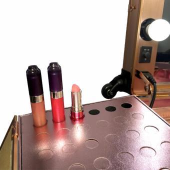 Suesh Metallic Rose Gold Vanity Makeup Station - 5
