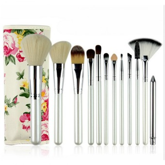 Superlady 12pcs Professional Goat Hair Makeup Brush Set KitEyeshadow Blusher COsmetic Brushes Make Up Tools