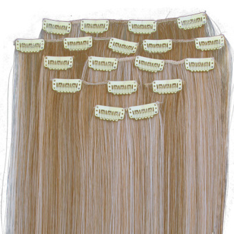 Synthetic Blonde Hair Extensions - picture 2