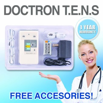Taiwan Doctron 3002 TENS Nerve Electric Stimulator with FREEAccessories (White)