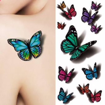 Tattoo 3D Butterfly Temporary Tattoo Decals Body Art Flying Butterfly Waterproof Tattoo