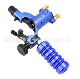 Tattoo Machine Handle Part Tube Tip Grip Body Art Accessory WithBack Stem Blue - intl