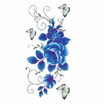 Tattoo TBX 9011 Rose Artificial Flower tattoo sticker flash henna waterproof temporary tattoo on Women Body - 2