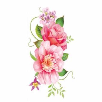 Tattoo TBX 9031 Rose Artificial Flower tattoo sticker flash henna waterproof temporary tattoo on Women Body - 2