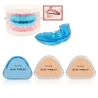 Teeth Retainer Dental Health Care Straight Mouthpieces Corrector (Blue Soft) - intl