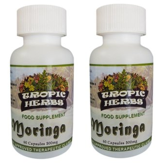 Tropic Herbs Moringa (Malunggay) 100% Pure leaf powder 60 Capsules500mg Set of 2 Price Philippines