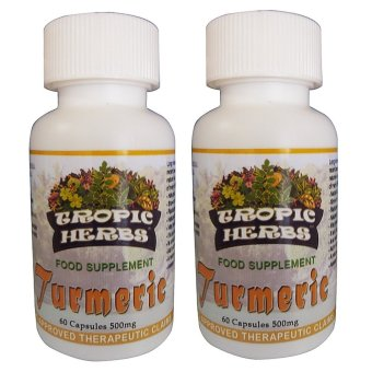 Tropic Herbs Turmeric 100% Pure & High Grade Powder 60 Capsules500mg Set of 2 Price Philippines
