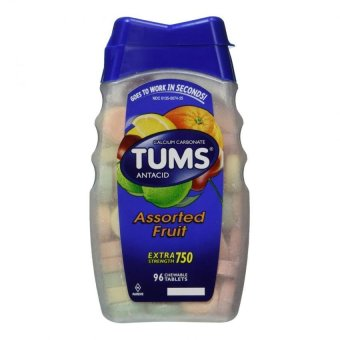 Tums Antacid, Extra Strength, Assorted Fruit Tablets 96 Tablets
