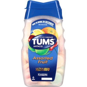 Tums Antacid Ultra Strength 1000 Assorted Fruit, 72 Tablets