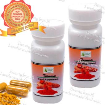 Turmeric Capsules Natural Herb Food Supplement 100pcs Set of 2