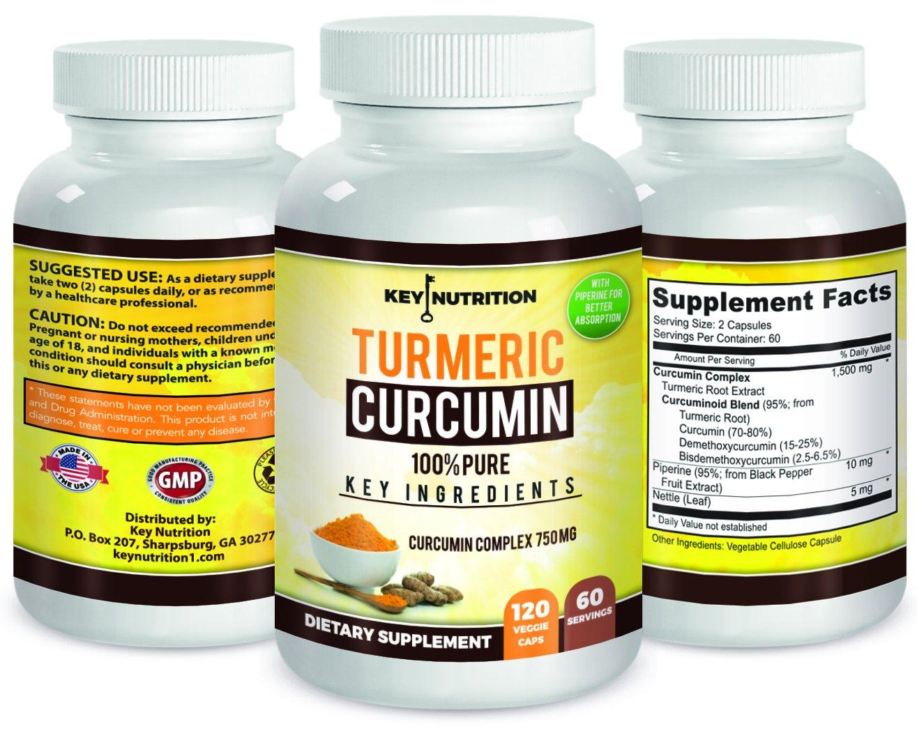 Turmeric Curcumin 1500mg 2 Month Supply 120 Veggie Capsules With PiperineBlack Pepper Extract High Absorption Formula With 95 Standardized Curcuminoids Anti Inflammatory Joint Support And More