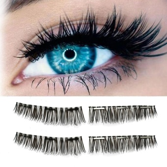 Ultra-thin 0.2mm Magnetic Eye Lashes 3D Reusable False Magnet Eyelashes A - intl