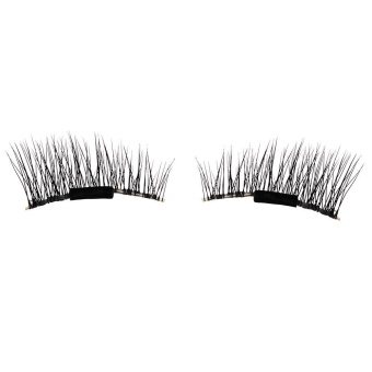 Ultra-thin 0.2mm Magnetic Eye Lashes 3D Reusable False MagnetEyelashes A - intl