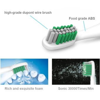 Ultrasonic Electric Toothbrush Rechargeable Oral Care Massage TeethBrush for Adult Kids Children 4 ToothBrush Head 220V - intl - 4
