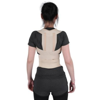 Unisex Posture Correction Waist Shoulder Chest Back Support Corrector Belt (XL) - intl