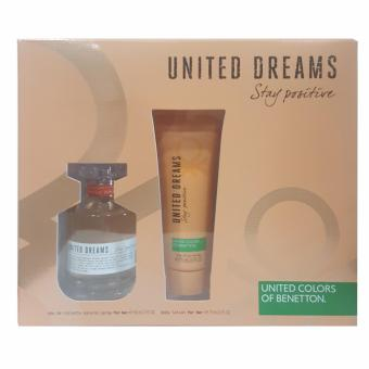 United Colors of Benetton United Dreams Stay Positive Eau deToilette 80ml + Body Lotion 75ml Set Price Philippines