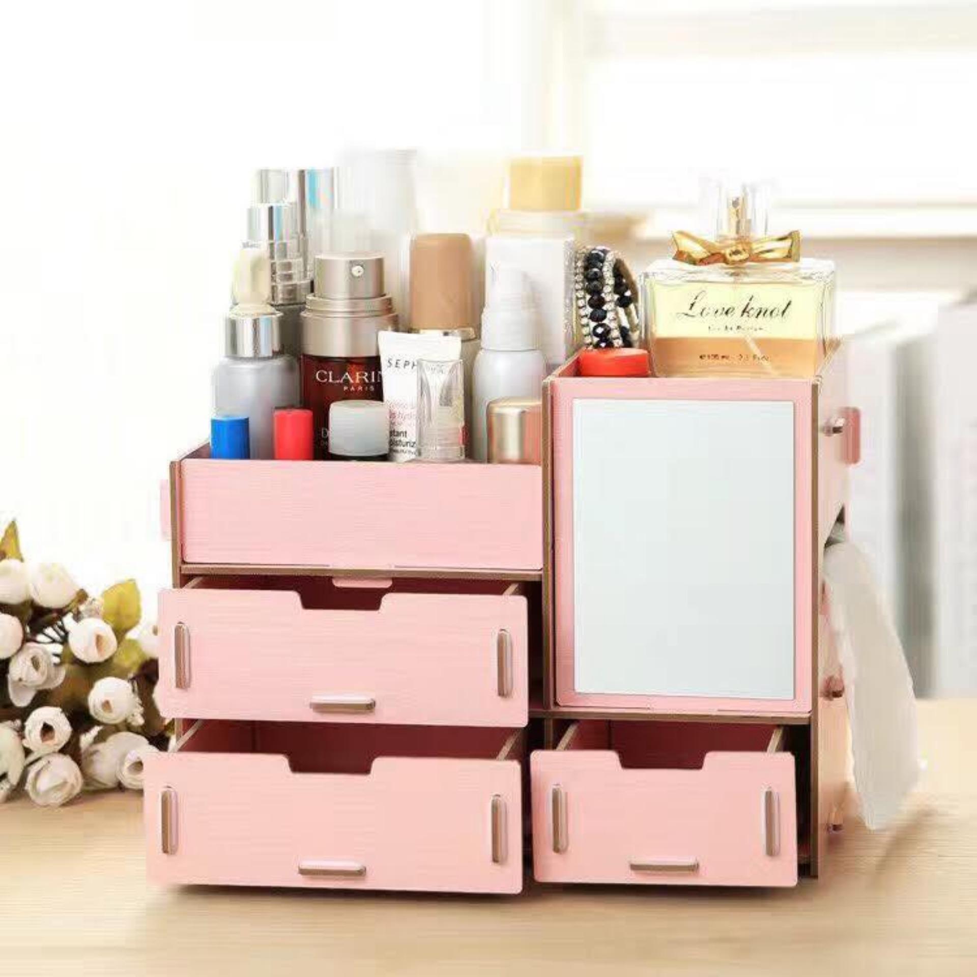 Vanity Makeup Accessories Organizer (Pink) | Lazada PH