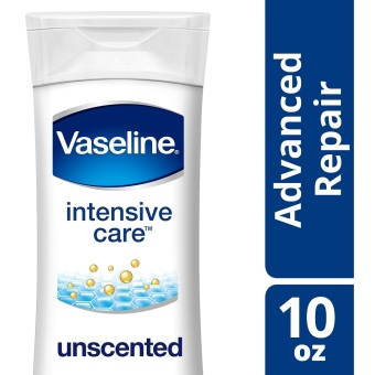 Vaseline Intensive Care Lotion Advanced Repair Unscented 10oz