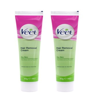 VEET Hair Removal Cream For Dry Skin With Shea Butter and Lily Fragrance 60g Set of 2