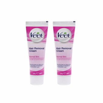VEET Hair Removal Cream For Normal Skin With Lotus Milk and Jasmine Fragrance 25g Set of 2