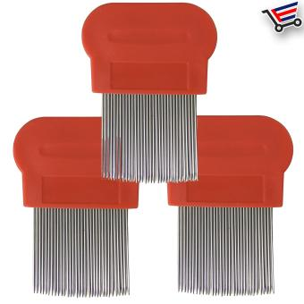 Very Effective Lice Terminator Hair Brushes Comb Dundruff RemovalMagic Suyod (Red) Set of 3