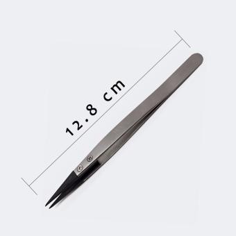 Vetus ESD 259 Stainless Handle Tweezers,Cleanroom tweezers ESD 259 High precise tweezers (Stainless) 12.8 cm - 4