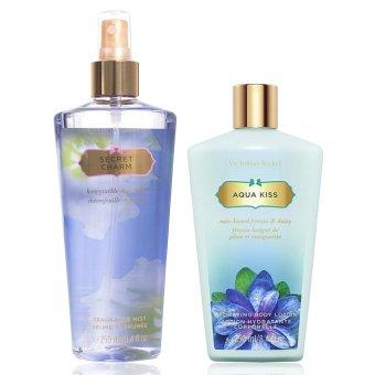 Victoria's Secret Bundle (Secret Charm Body Mist + Aqua Kiss Body Lotion)