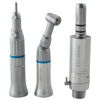 Vinmax Dental 2-Hole Slow Low Speed Handpiece Kit Push ButtonContra Angle Handpiece + Straight Nose Cone + Air Motor 2H E-typeFDA CE - intl