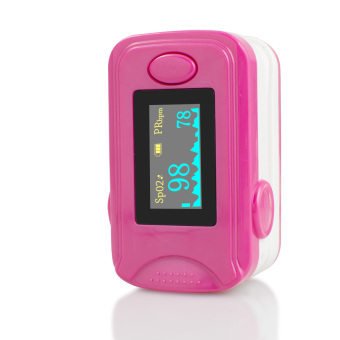 Vinmax Finger Oximeter Pulse Blood Oxygen SpO2 Monitor PR HeartRate Moniter LED display Handheld Portable + Free 1Pcs Black CarryCase (Rosered) - intl Price Philippines