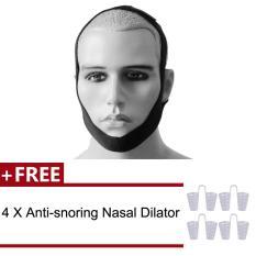 Vinmax Stop Snoring Chin Strap Belt Anti Snore Aid + Free 4Pcs Anti Snore Nasal Dilators