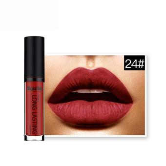 Waterproof Matte Liquid Lipstick Long Lasting Lip Gloss Lipstick 24# - intl